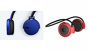 MIRZA Extra Extra Bass XB450 Headphones & Bluetooth Headset for SONY xperia active(XB 450 Headphones,With MIC,Extra Bass,Headset,Sports Headset,Wired Headset & Mini 503 Bluetooth Headset,Sports Headset,Gym Headset )