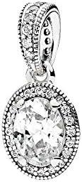 Pandora Women's Vintage Elegance Pendant - Silver Pl