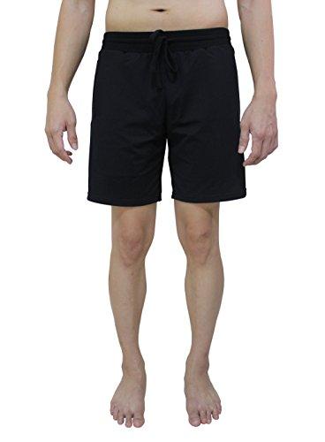 YogaAddict Pantaloncini da uomo, asciugatura rapida, senza tasche, per qualsiasi tipologia di yoga (Bikram, Hot Yoga, Hatha, Ashtanga), pilates e palestra nero - nero