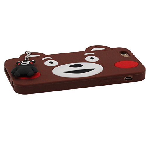 Apple iPhone 6S / 6 Coque Case 4.7 inch marron, Mignonne Cartoon Manchot Série Divers Couleur Animal Silicone Gel Coque Original Pendentif Conception + Silicone Titulaire marron