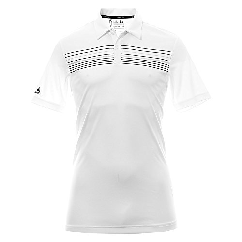 Adidas ClimaCool Chest Print T-Shirt Golf, Poloshirt L weiß (Golf Climacool)