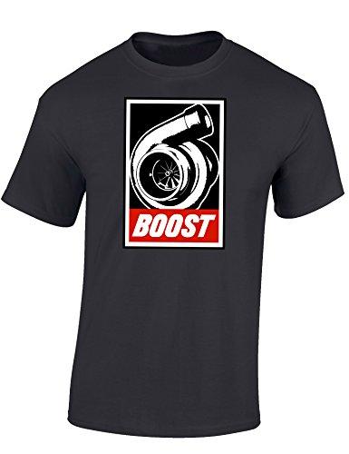 Petrolhead: Boost - Geschenk für Autoliebhaber - T-Shirt für alle Tuning-, Drift-, und Motorsport Fans - Auto T-Shirt Herren Shirt - Geschenk Auto - Auto-Fahrer (4XL)
