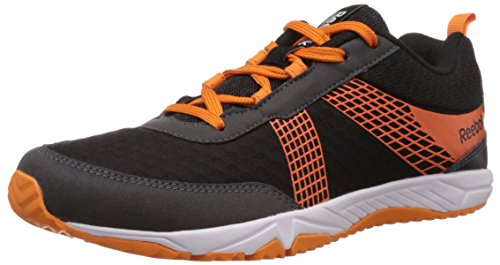Reebok Boy's Tempo Speedster Black,Grey,Orange And White Sneakers – 4.5 UK 412CO7LWtqL