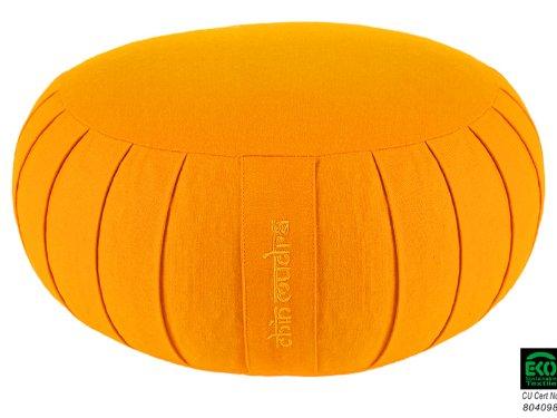 Zafu Confort 100% coton Bio - Epeautre- Safran