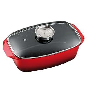 King b1736r cocotte en aluminium moul sous pression avec couvercle en verre cuisson saveur et - Cookeo cuisson sous pression ...