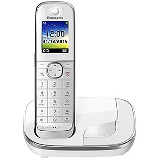 Panasonic KX-TGJ310GW Familien-Telefon mit sprechender Anruferkennung, Babyphone & Wecker, Weiß