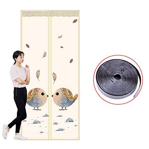 DULPLAY Anti-Mosquito Verstärkt Magnet Fliegengitter tür, Wand Vorhang Haustierfreundlich Entfernbar Waschbar Installation einfach-A 95x200cm(37x79inch)