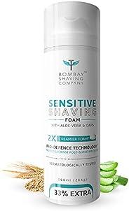 Bombay Shaving Company Sensitive Shaving Foam,266 ml (33% Extra) with Aloe Vera & Oats (Aloe V