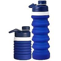 Augneveres Sport-Wasserkocher, faltbar, Silikon, 550 ml, auslaufsicher, Sportflasche, ungiftig, faltbar, für Outdoor-Sport... preisvergleich bei billige-tabletten.eu