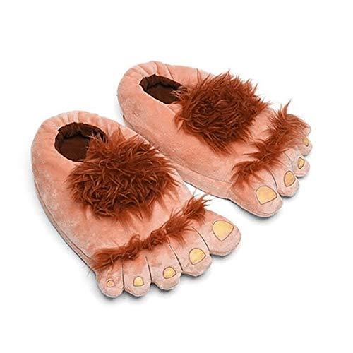 ikatur Innen Hausschuhe Frau Lustig Das Hobbit-Monster Schuhe Warme Kuschelige Weiche Raubtier Hausschuhe Bärentatze Kostüm Pfote Claw Schuhe Größe 36-42 ()