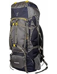 860a07124b TRAWOC 60L Travel Backpack for Outdoor Sport Camp Hiking Trekking Bag  Camping Rucksack HK006 (Grey