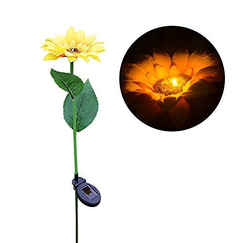 Sonnenblume Solar Light Rasen Laterne LED Landschaft Lampe für Garten Hof Terrasse Rasen weg Weg Decor (Sonnenblume-grenze)