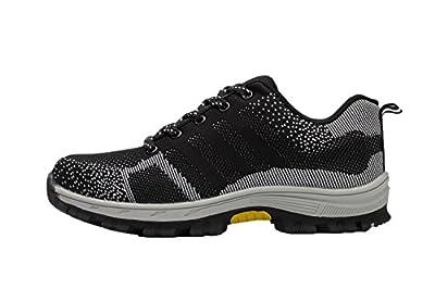 tqgold Unisex Herren Damen Arbeitsschuhe Sicherheitsschuhe Schutzschuhe mit Stahlkappe Rutschhemmend Schuhe