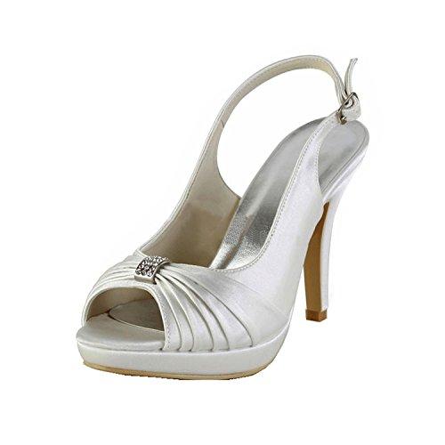 Kevin Fashion , Chaussure de mariée fashion femme Blanc