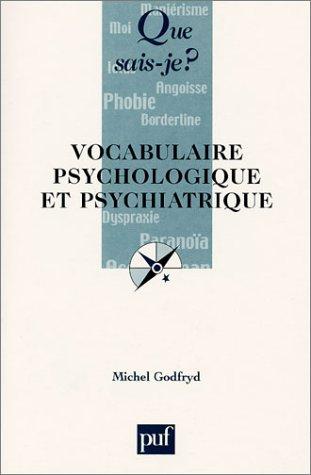 Vocabulaire psychologique et psychiatrique