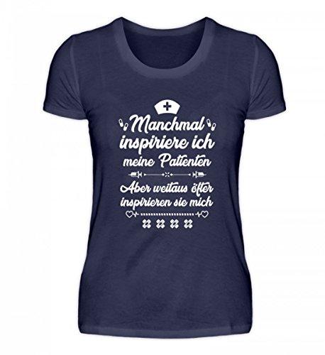 shirt-o-magic Krankenschwester: Patienten Inspirieren Mich - Damenshirt