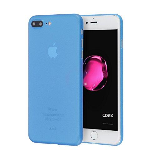 doupi UltraSlim Hülle für iPhone 8 Plus / 7 Plus (5,5 Zoll), Ultra Dünn Fein Matte Oberfläche Handyhülle Cover Bumper Schutz Schale Hardcase Design Schutzhülle, blau