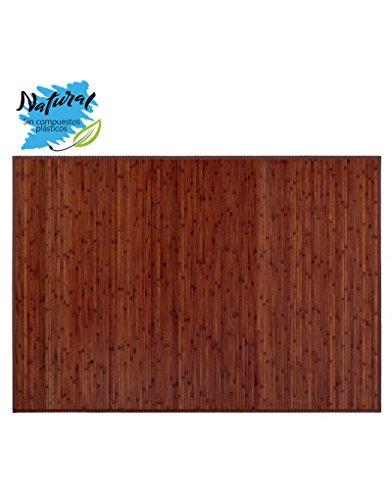 Tappeto in Legno color Noce. Bamboo