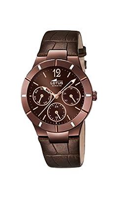 Lotus 15918/2 - Reloj de pulsera Mujer, Cuero, color Marrón