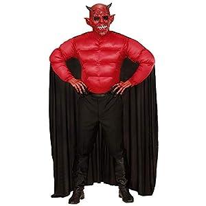 WIDMANN Disfraz Diablo Adulto, Camiseta de Tirantes con Capa