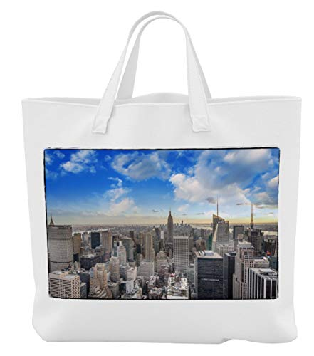 Merchandise for Fans Einkaufstasche- 38x42cm, 8 Liter - Motiv: New York Manhattan Panorama [ 12 ]