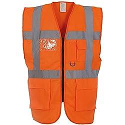 Yoko - Gilet de sécurité haute visibilité - Unisexe (2XL) (Orange)