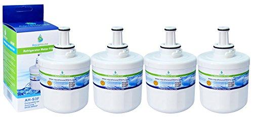 4x AH-S3F kompatibel Wasserfilter für Samsung Kühlschrank DA29-00003F, HAFIN1/EXP, DA97-06317A-B, Aqua-Pure Plus, DA29-00003A, DA29-00003B