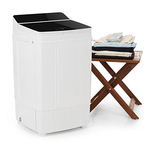 oneConcept Ecowash Deluxe 4 • Camping Waschmaschine • Toploader-Waschmaschine • Waschmaschine • Waschkapazität: 4 kg • 290 W Leistung • Schleuderfunktion • Schleuderleistung: 800 U/min • 2 Spülprogramme • spritzwassergeschützt • sparsam • schwarz