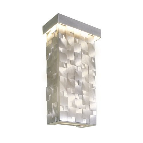 Maxim Lighting 88283 Mosaic Wall Sconce, Brushed Aluminum Finish, 7 by 12.5-Inch by Maxim Lighting