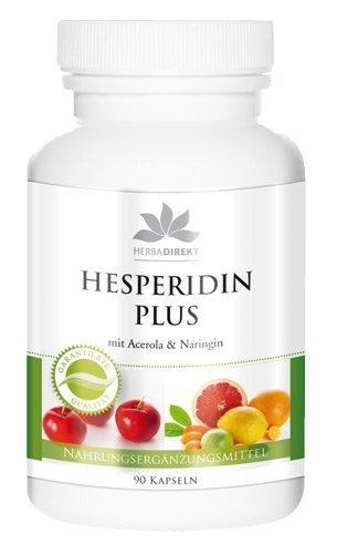 Hesperidina plus con acerola y naringina - 90 cápsulas - 50g- herba direkt