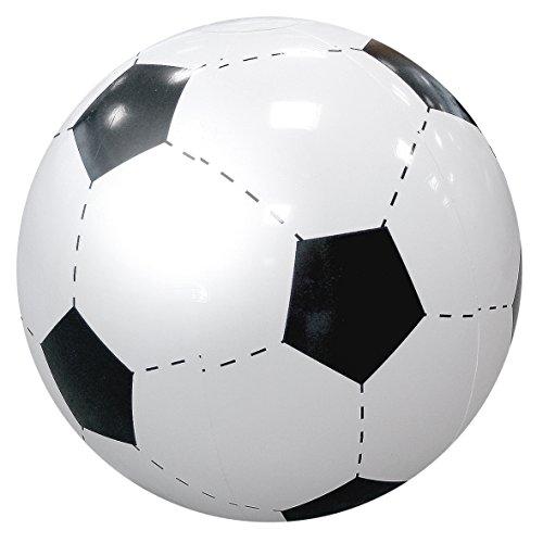 elasto XXL Wasserball Groß Fußball Riesen Strandball Ø 80cm Aufblasbar Beachball Dekoartikel Soccer-Design