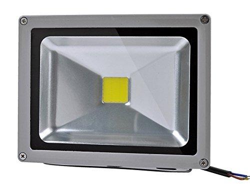 HimanJie 10W/20W/30W/50W/70W/100W kaltweiß mit silber grau Aluminium Gehäuse LED Lampe IP65 wasserdicht Squre Wandleuchter Fluter Flutbeleuchtung Flutlicht Scheinwerfer Außenstahler Leuchtmittel Energiesparend(20W)