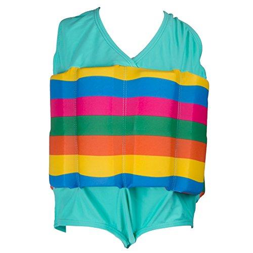 Zerlar Rainbow Float Anzug für Kinder Bademode Schwimmhilfe Badeanzug
