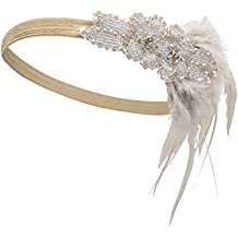 Kayamiya Damen 1920er Jahre Stirnband Art Deco Inspired Flapper Braut Kristall Kopfschmuck