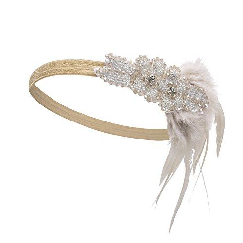 Kayamiya Damen 1920er Jahre Stirnband Art Deco Inspired Flapper Braut Kristall Kopfschmuck (Stirnband 1920er Jahre)