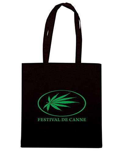 T-Shirtshock - Borsa Shopping T0917 festival de canne bevande sballo Nero