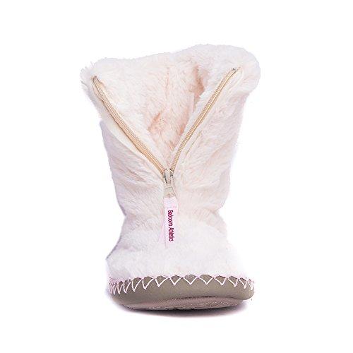 Bedroom Athletics Monroe, Pantofole a Collo Alto Uomo Cream