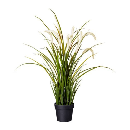 Ikea 204.339.36 FEJKA Topfpflanze, künstlich, drinnen/draußen Dekoration, Gras, 9 cm, Nicht Angegeben