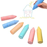 White Hinge 7Pc Set Of Giant Assorted Colour Chalks