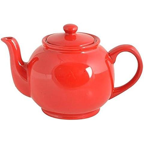 Precio y Kensington 6 Copa Tetera, Rojo Brillante