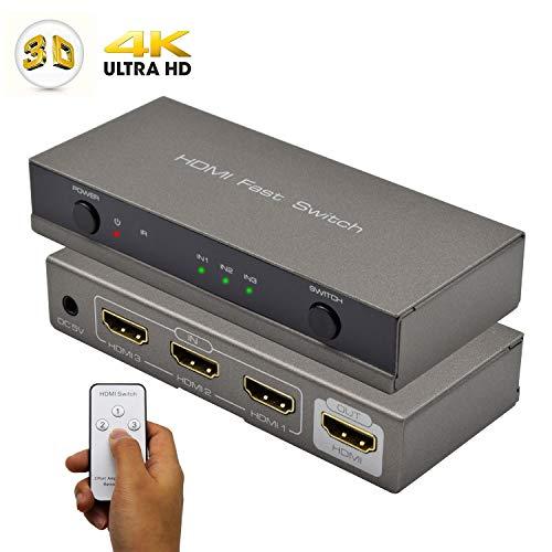 HDMI Switch, AMANKA Conmutador HDMI Switcher 3 Puertos