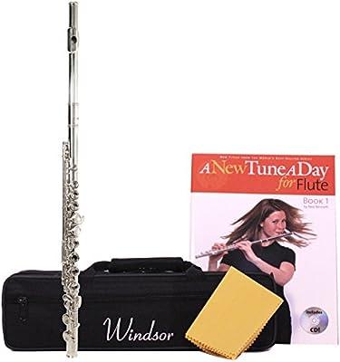 Windsor MI-1002-PK - Flauta travesera (en do, níquel), color plateado