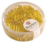 Rayher 1406520 Glasstifte, 7/2 mm, mit Silbereinzug, Dose 15g, gelb