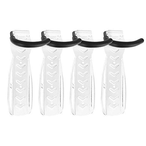 4x WELLGRO® Wand Fahrradhalter - weiß, Stahl, Fahrrad Wandhalterung, 26 x 7,5 x 14 cm (HxBxT)