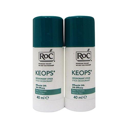 Roc Keops Deodorant Stick Soft Sweating 2x40ml