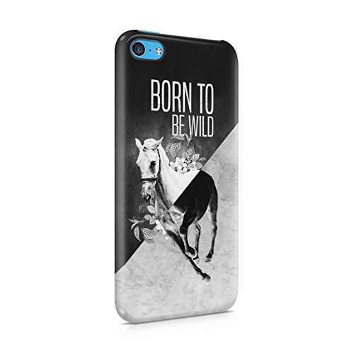 Vintage Wild Running Mustang Horse In Fields Custodia Posteriore Sottile In Plastica Rigida Cover Per iPhone 5 & iPhone 5s & iPhone SE Slim Fit Hard Case Cover Born Wild