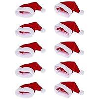 Moca 10pcs Mini gorro de Papá Noel taza botellas, casa de regalo de Navidad ·