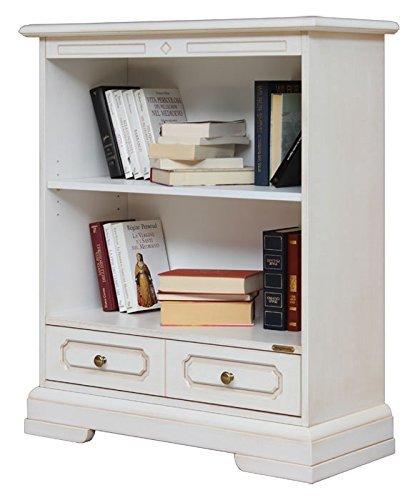 Kleines Bücherregal – 1 Schubkasten mit Doppelfassade - bewegliche Einlegeböden