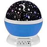 Esonstyle New Generation 360 Grad Romantische Stimmung Stern-Nachtlicht -Lampen-Raum Rotierende Nachttischlampe für Baby-Kinderzimmer Schlafzimmer Kinderzimmer Kinderzimmer