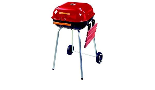 Landmann Holzkohlegrill Corso : Meco modell 4101 square utility holzkohle grill rot: amazon.de: garten